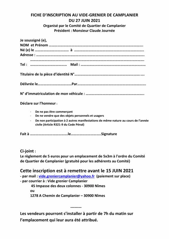 Fiche inscription vide grenier 2021 1